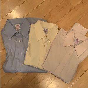 NWOT Brooks Brothers dress shirts sz L set of 3